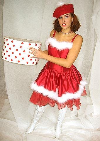 Kerstman Kerstvrouw En Sexy Kerstengel Merry